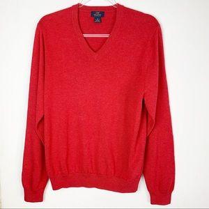 "Brooks Brothers ""346"" Supima Cotton V Neck Sweater"